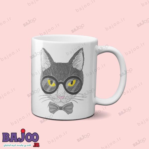 ماگ گربه عینکی